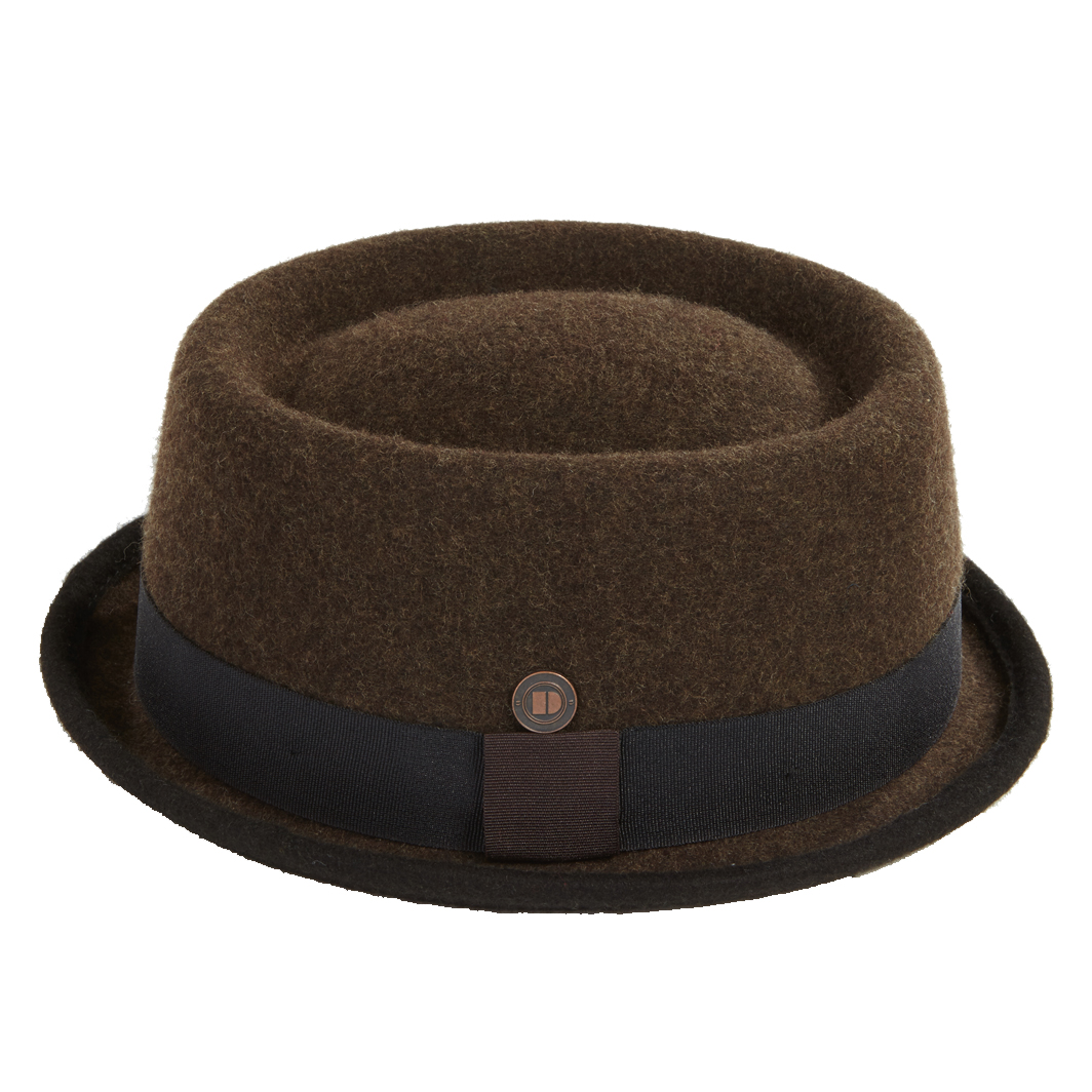 DASMARCA Winter Wool Felt Stingy Brim Porkpie Hat